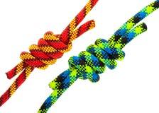 комплект веревочки узлов Стоковое Изображение