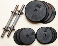 Комплект весов гантели Стоковая Фотография RF