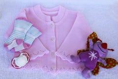 Комплект вещества младенца изолированный для девушки Стоковые Фотографии RF