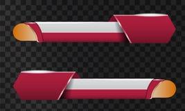 Комплект видео- названия заголовка или понижает третий шаблон Уникально дизайн знамени для видео бесплатная иллюстрация