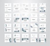 Комплект визитной карточки на белой предпосылке с космосом экземпляра вектор стоковое фото