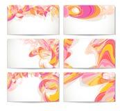 комплект визитной карточки самомоднейший Иллюстрация вектора