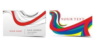комплект визитной карточки Стоковое Изображение