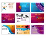 комплект визитных карточек самомоднейший стильный Стоковое Фото