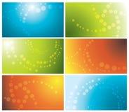 комплект визитных карточек цветастый Стоковая Фотография RF