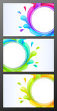 комплект визитных карточек цветастый Стоковое фото RF