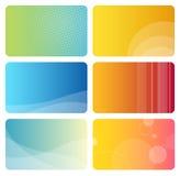 комплект визитных карточек цветастый иллюстрация штока