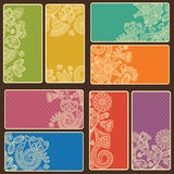 Комплект визитных карточек Стоковое фото RF