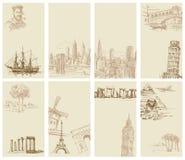 Комплект визитных карточек Стоковые Изображения