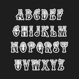 Комплект викторианских писем алфавита стиля Стоковое фото RF