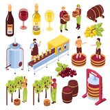 Комплект винодельни равновеликий иллюстрация штока