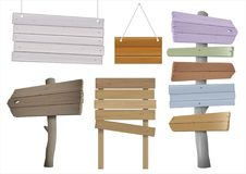 Комплект винтажных деревянных указателей Стоковое фото RF