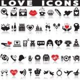 комплект влюбленности икон Стоковая Фотография