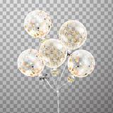 Комплект воздушного шара в воздухе Украшения партии для bir Стоковое Изображение RF