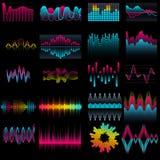 Комплект волн аудио выравнивателя музыки Стоковые Фото