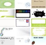 комплект выбора визитной карточки Стоковое фото RF