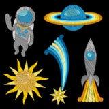 Комплект вышивки космоса Стоковое фото RF
