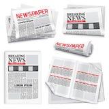 Комплект газеты реалистический бесплатная иллюстрация