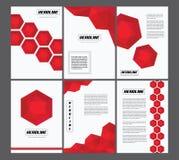 Комплект геометрических обложек книги Стоковая Фотография RF