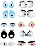 комплект глаза шаржа Стоковая Фотография