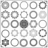 Комплект года сбора винограда элементов вектора круглых Стоковые Изображения RF