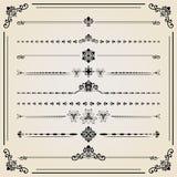 Комплект года сбора винограда элементов ector горизонтальных Стоковое Изображение RF
