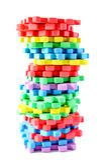 комплект головоломки циновки алфавита цветастый изолированный Стоковое фото RF