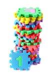 комплект головоломки циновки алфавита цветастый изолированный Стоковые Фотографии RF