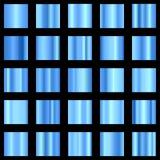 Комплект голубого градиента Голубое собрание градиента вектор Стоковая Фотография