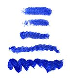 Комплект голубых акриловых brushstrokes Стоковые Изображения RF