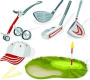 комплект гольфа 02 Стоковое Изображение