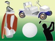 комплект гольфа Стоковая Фотография