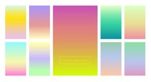 Комплект градиентов цвета для предпосылки и обоев экрана и экрана конструкция самомоднейшая Стоковая Фотография