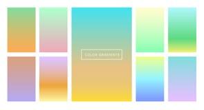 Комплект градиентов цвета для предпосылки и обоев экрана и экрана конструкция самомоднейшая Стоковое Изображение RF