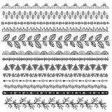 Комплект границ doodle Стоковая Фотография RF