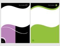 комплект графика 2 брошюр Стоковая Фотография