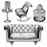 Комплект графической мебели бесплатная иллюстрация