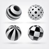 Комплект декоративных сфер Стоковые Изображения RF