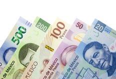 Комплект денег мексиканского песо бумажных стоковое фото