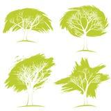 Комплект деревьев вихруны мира eco принципиальной схемы Стоковые Изображения RF