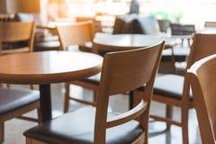 комплект деревянных круглого стола и стула Стоковое фото RF