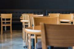комплект деревянных круглого стола и стула Стоковая Фотография RF