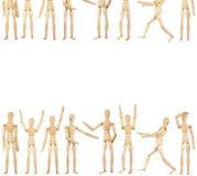 Комплект деревянных кукол Стоковая Фотография