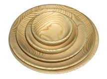 Комплект деревянных плит изолированных на белой предпосылке Стоковые Фото