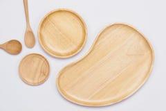 Комплект деревянных плит на белой предпосылке Стоковое Фото