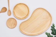 Комплект деревянных плит на белой предпосылке Стоковые Изображения RF