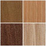 Комплект деревянных текстур Стоковые Фотографии RF