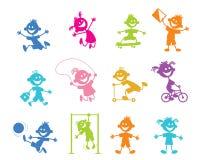 Комплект детей шаржа Стоковое Изображение