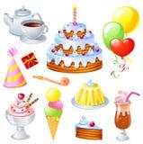 комплект дня рождения Стоковые Изображения RF
