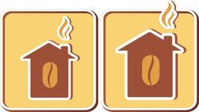 Комплект домов кофе Стоковое Фото
